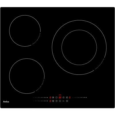 AMICA TABLE INDUCTION  60 CM 3 ZONES - PUISSANCE 7,2 KW - 3 BOOSTERS